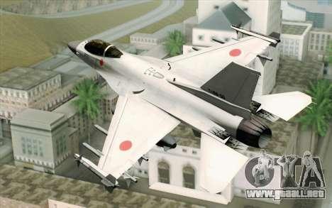 Mitsubishi F-2 Blue JASDF Skin para GTA San Andreas left