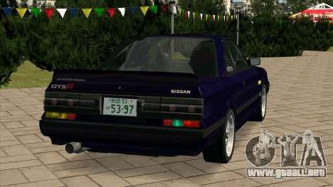 Nissan Skyline GTS-R (HR31) para GTA San Andreas vista posterior izquierda