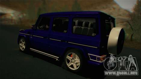 Mercedes-Benz G65 2013 Stock body para GTA San Andreas vista hacia atrás