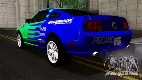 Ford Mustang GT Wheels 2 para GTA San Andreas left