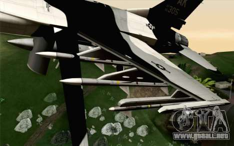 F-16C Fighting Falcon Aggressor Alaska BlackGrey para la visión correcta GTA San Andreas
