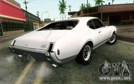 Oldsmobile 442 de Vacaciones Coupe 1969 FIV АПП para GTA San Andreas left