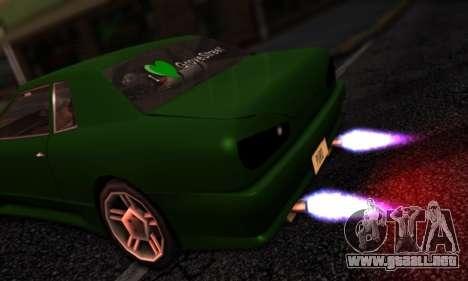 Elegy I Love GS v1.0 para GTA San Andreas vista hacia atrás