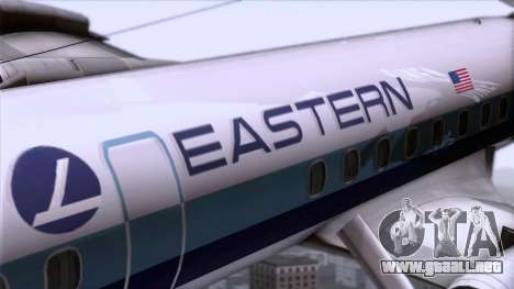 L-188 Electra Eastern Als para GTA San Andreas vista hacia atrás
