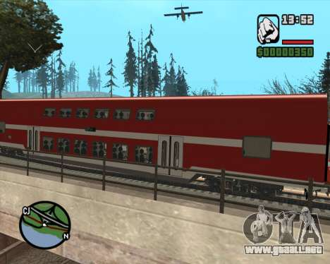 Israeli Train Double Deck Coach para GTA San Andreas vista posterior izquierda