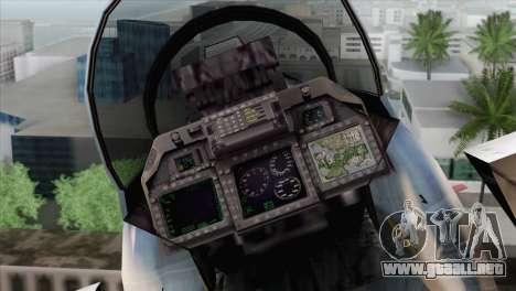 F-15E Artic Blue para GTA San Andreas vista hacia atrás