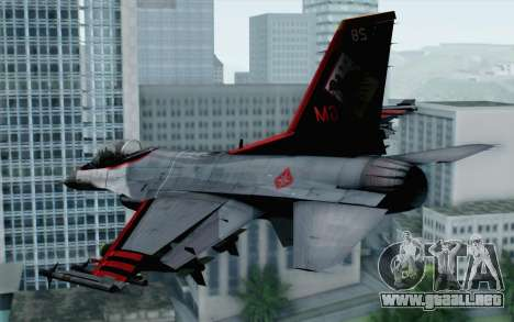 F-16 15th Fighter Squadron Windhover para GTA San Andreas left
