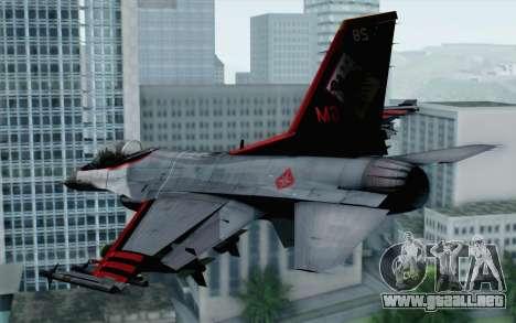F-16 15th Fighter Squadron Windhover para GTA San Andreas left