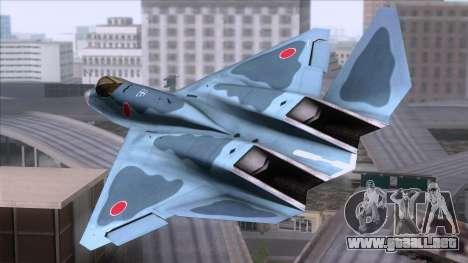 YF-23 JASDF para GTA San Andreas left