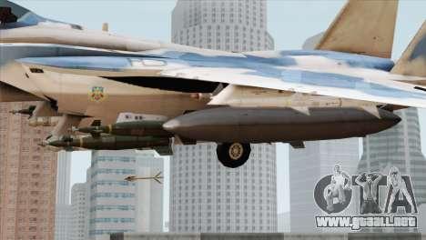 F-15E Artic Blue para la visión correcta GTA San Andreas