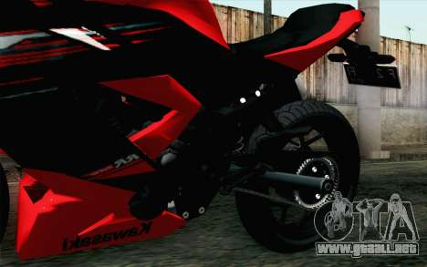 Kawasaki Ninja 250RR Mono Red para la visión correcta GTA San Andreas