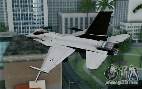 F-16 Fighting Falcon RNoAF para GTA San Andreas left