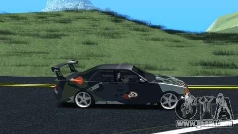 Toyota Chaser Tourer V Fail Crew para GTA San Andreas vista posterior izquierda