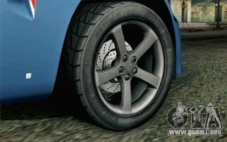 Pontiac Solstice para GTA San Andreas vista posterior izquierda