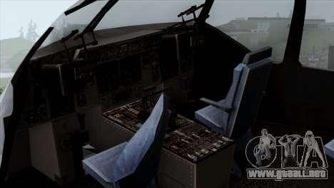 C-17A Globemaster III USAF Mississippi para GTA San Andreas vista hacia atrás
