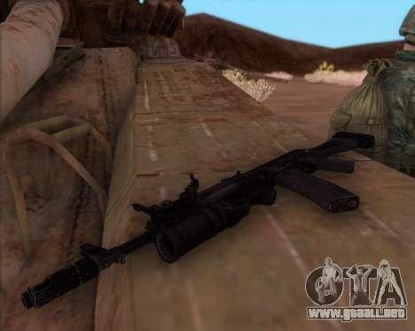 El Kalashnikov AK-74M para GTA San Andreas tercera pantalla