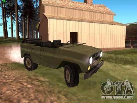 UAZ militar para GTA San Andreas left