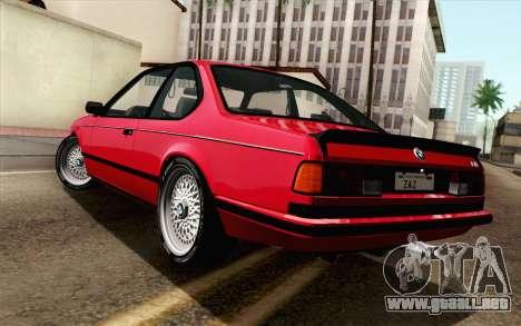 BMW M635CSI E24 1986 V1.0 para GTA San Andreas left