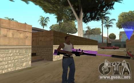 Purple Weapon Pack by Cr1meful para GTA San Andreas tercera pantalla