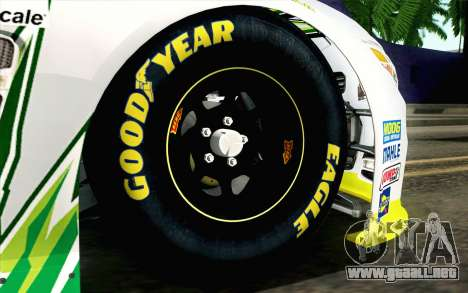 NASCAR Chevrolet SS 2013 v4 para GTA San Andreas vista posterior izquierda