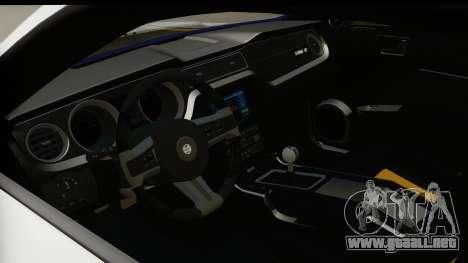 Ford Mustang 2010 Cobra Jet para visión interna GTA San Andreas