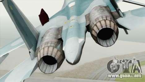 Sukhoi SU-27 PMC Reaper Squadron para GTA San Andreas vista hacia atrás