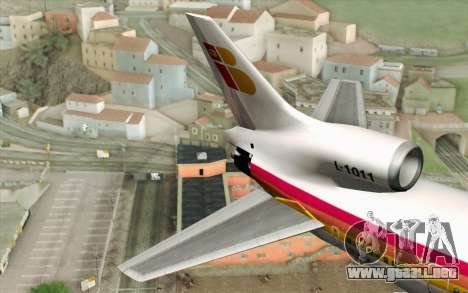 Lookheed L-1011 Iberia para GTA San Andreas vista posterior izquierda