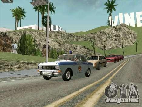 Moskvich 2140 Policía para GTA San Andreas left