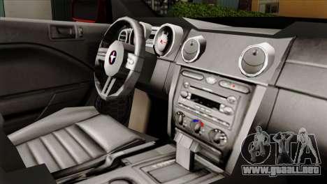 Ford Mustang GT PJ para la visión correcta GTA San Andreas