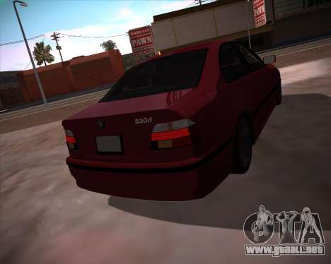 BMW 5-series E39 Vossen para GTA San Andreas left
