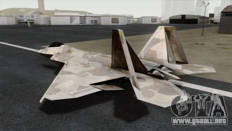 F-22 Raptor 02 para GTA San Andreas left