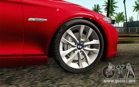 BMW 530d F11 Facelift IVF para GTA San Andreas vista posterior izquierda