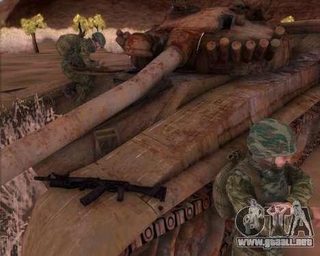 El Kalashnikov AK-74M para GTA San Andreas segunda pantalla