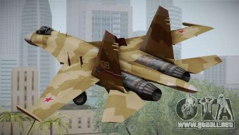 SU-27 Warwolf Squadron para GTA San Andreas left
