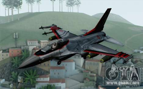 F-16 15th Fighter Squadron Windhover para GTA San Andreas