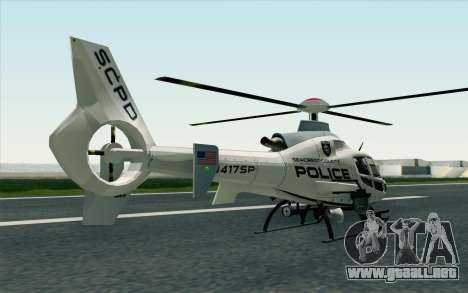 NFS HP 2010 Police Helicopter LVL 1 para GTA San Andreas left