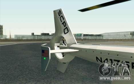 NFS HP 2010 Police Helicopter LVL 1 para la visión correcta GTA San Andreas