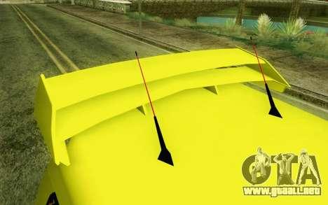 Daihatsu Espass Angkot YRT para GTA San Andreas vista hacia atrás