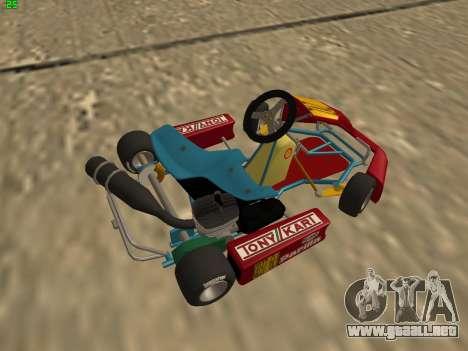 Kart per XiorXorn para GTA San Andreas vista posterior izquierda