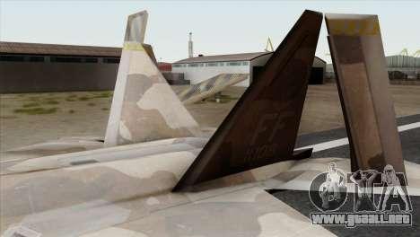 F-22 Raptor 02 para GTA San Andreas vista posterior izquierda