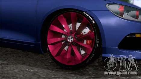 Volkswagen Scirocco GT 2009 para GTA San Andreas vista posterior izquierda