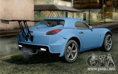 Pontiac Solstice para GTA San Andreas left