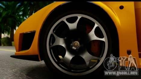 Noble M600 2010 HQLM para visión interna GTA San Andreas