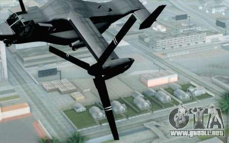 MV-22 Osprey VMM-265 Dragons para GTA San Andreas vista hacia atrás