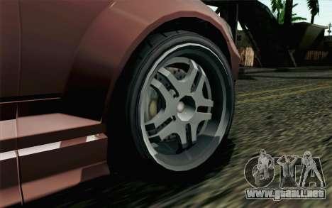 GTA 5 Benefactor Schafter SA Mobile para GTA San Andreas vista posterior izquierda