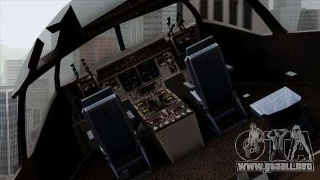 C-17A Globemaster III NATO para GTA San Andreas vista hacia atrás