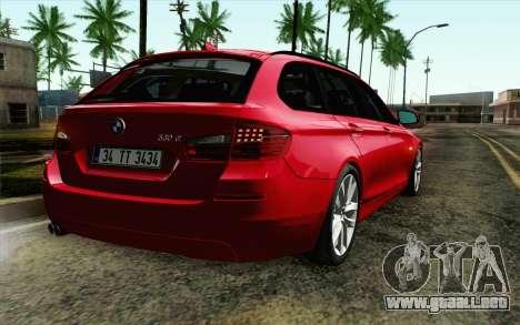 BMW 530d F11 Facelift IVF para GTA San Andreas vista hacia atrás