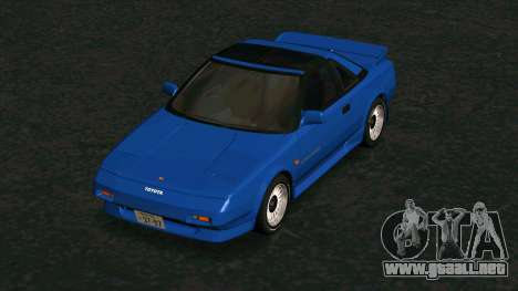 Toyota MR2 1600 G-Limited (AW11) para visión interna GTA San Andreas