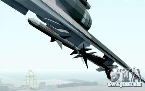 Dassault Mirage 2000 ISAF para GTA San Andreas vista hacia atrás