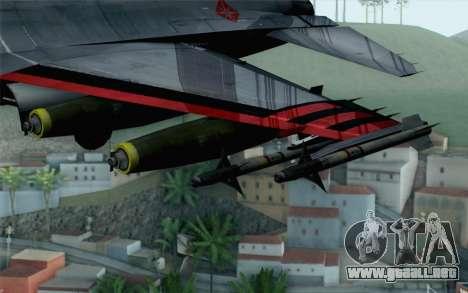 F-16 15th Fighter Squadron Windhover para la visión correcta GTA San Andreas